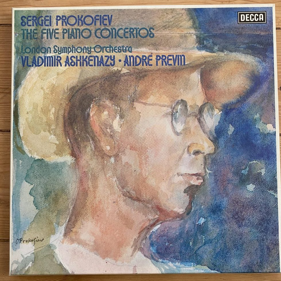 15BB 218-220 Prokofiev The Five Piano Concertos / Ashkenazy / Previn 3 LP box set