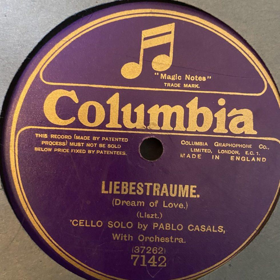 7145 Liszt Liebestraume / Pablo Casals 78 rpm