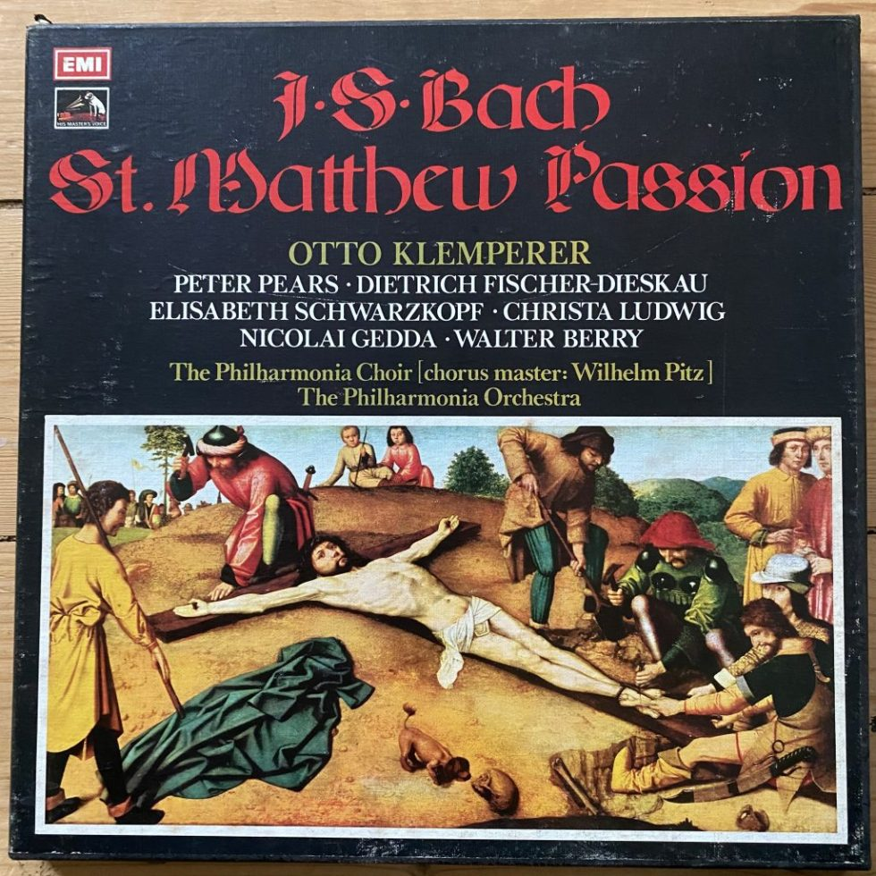 SLS 827 Bach St. Matthew Passion / Klemperer / Philharmonia etc. 4 LP box