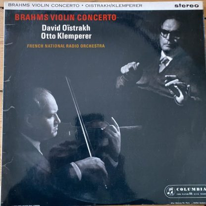 SAX 2411 Brahms Violin Concerto / Oistrakh / Klemperer / FRNO E/R