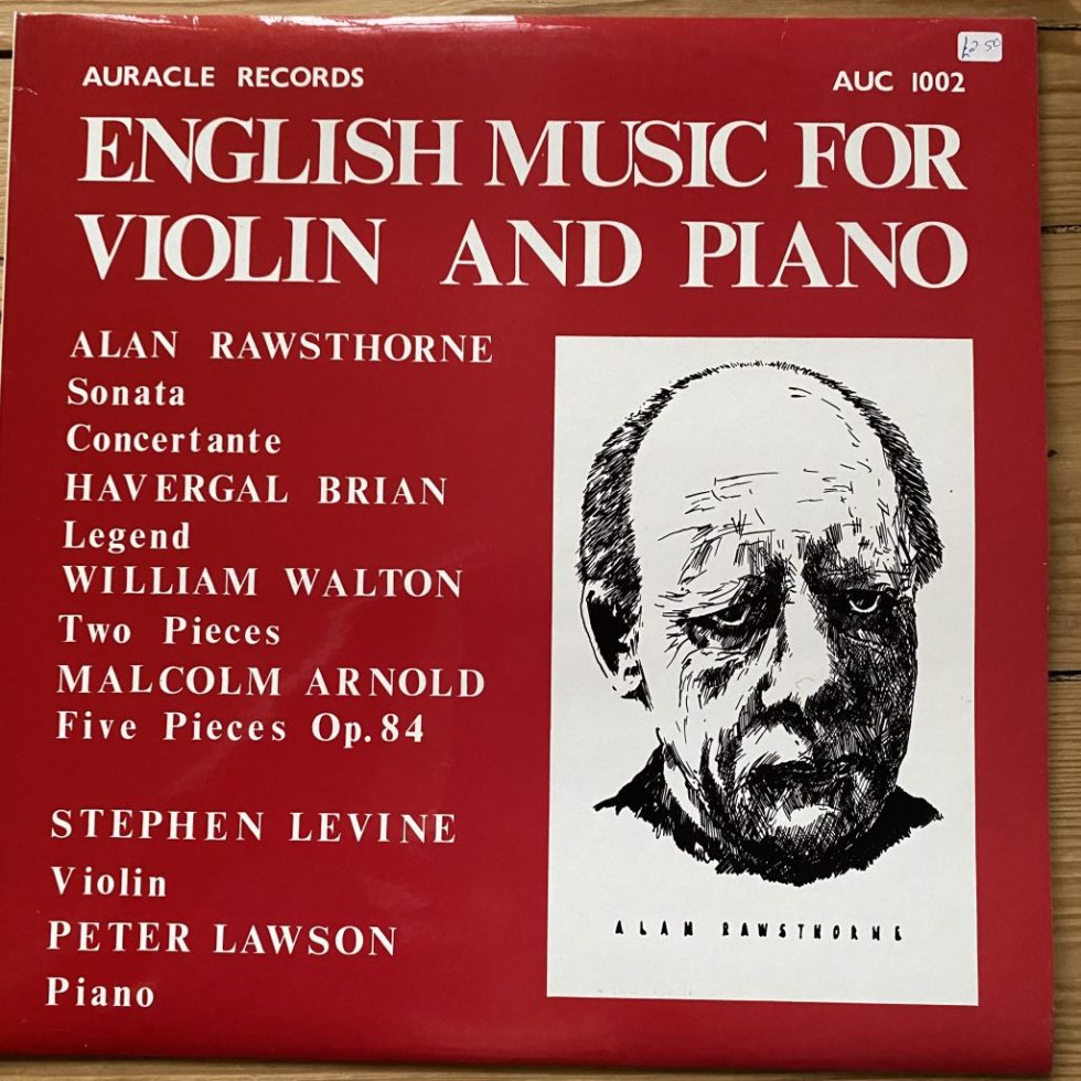 AUC 1002 English Music for Violin and Piano / Stephen Levine / Peter Lawson