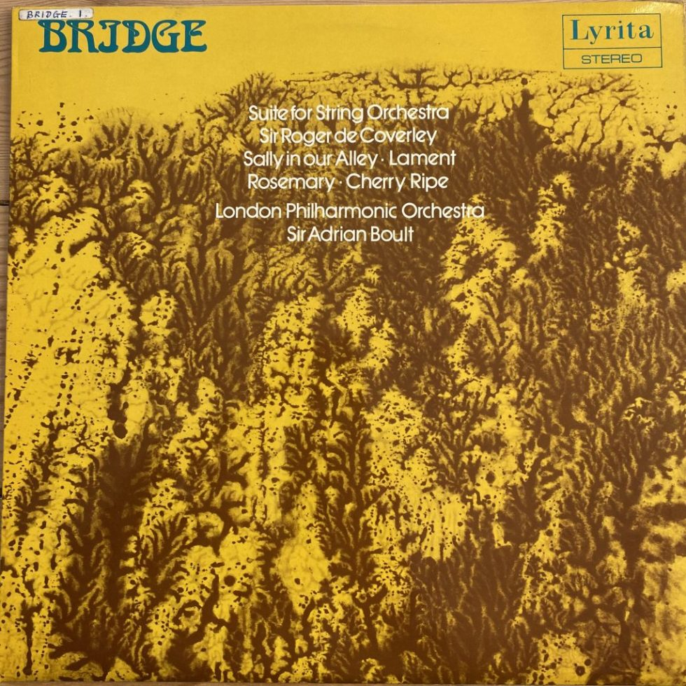 SRCS 73 Frank Bridge Suite For String Orchestra / Sir Roger de Coverley / Sally in our Alley, etc. / Boult