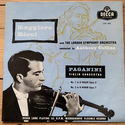 LXT 5075 Paganini Violin Concertos Nos. 1 & 2