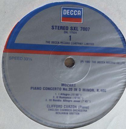 SXL 7007 Mozart Piano Concertos Nos. 20 & 27 /
