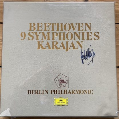 Beethoven Symphonies / Karajan Ltd. Edition Signed 9 LP box