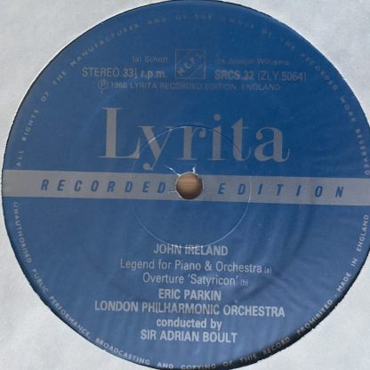 SRCS 32 Ireland Symphonic Rhapsody Mai Dun etc. / Parkin / Boult / LPO