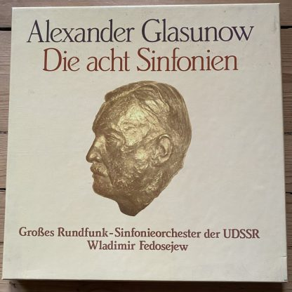 999 001-8 Glazunov The 8 Symphonies / Fedosejew 8 LP box