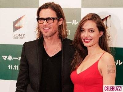 """Brad Pitt and Angelina Jolie at the Premiere of """"Money Ball"""""""