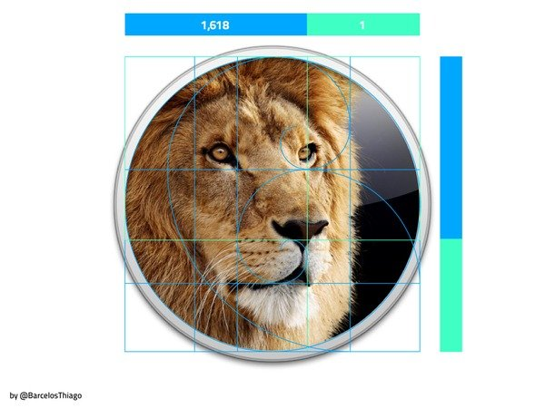 Apple and Golden Ratio, Golden Rectangle, Fibonacci Sequence in the Design-5