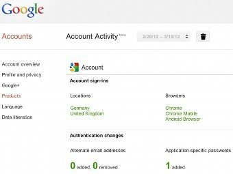 Google Shows Users Personal Statistics