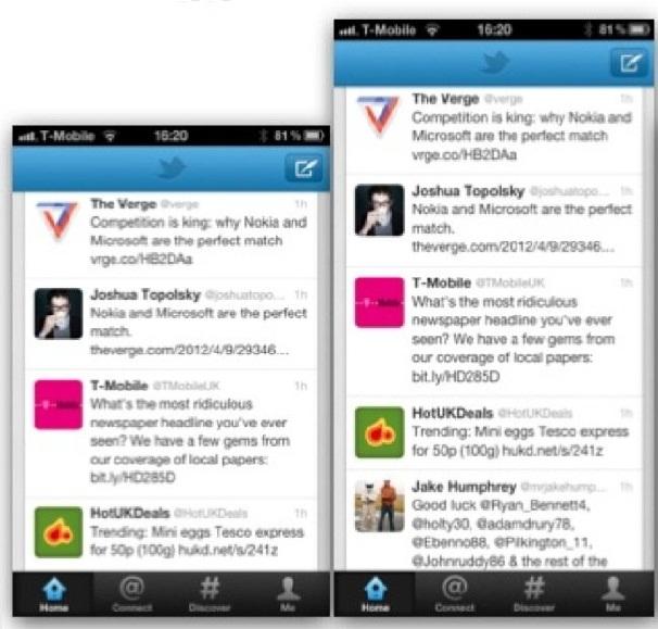 iPhone's screen