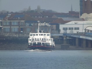 """Snowdrop"" a ferry crossing the river Mersey"