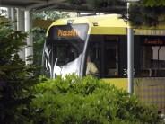 tram at media City