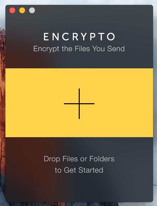 Encrypto Home Screen