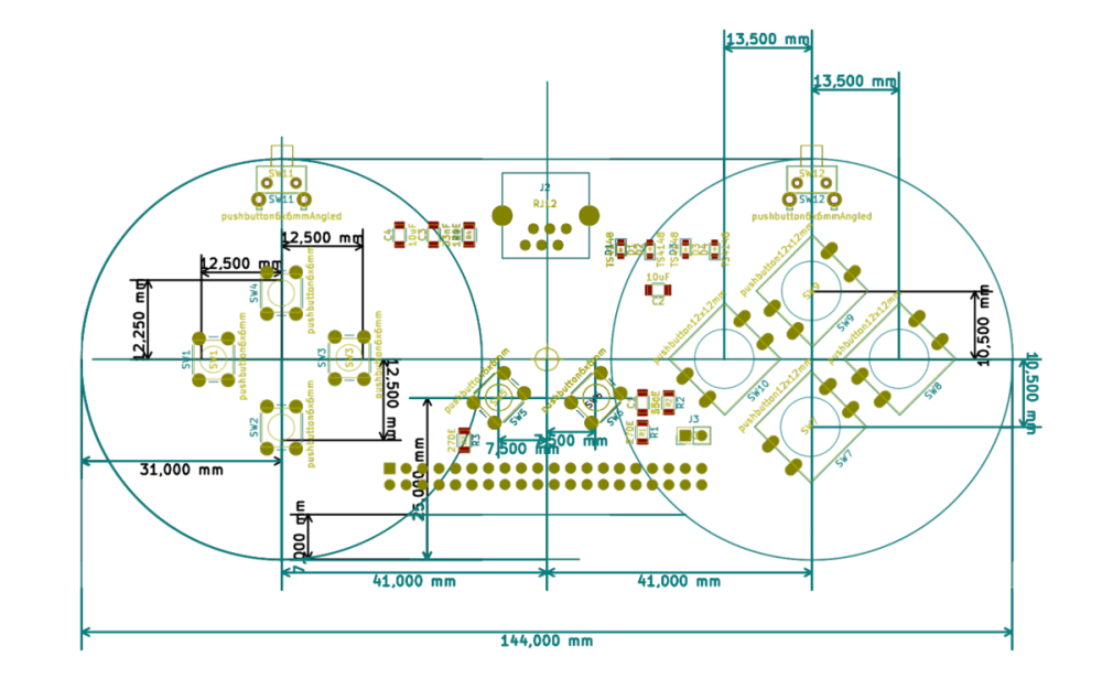 medium resolution of snes joypad placement with dimensions cropped png