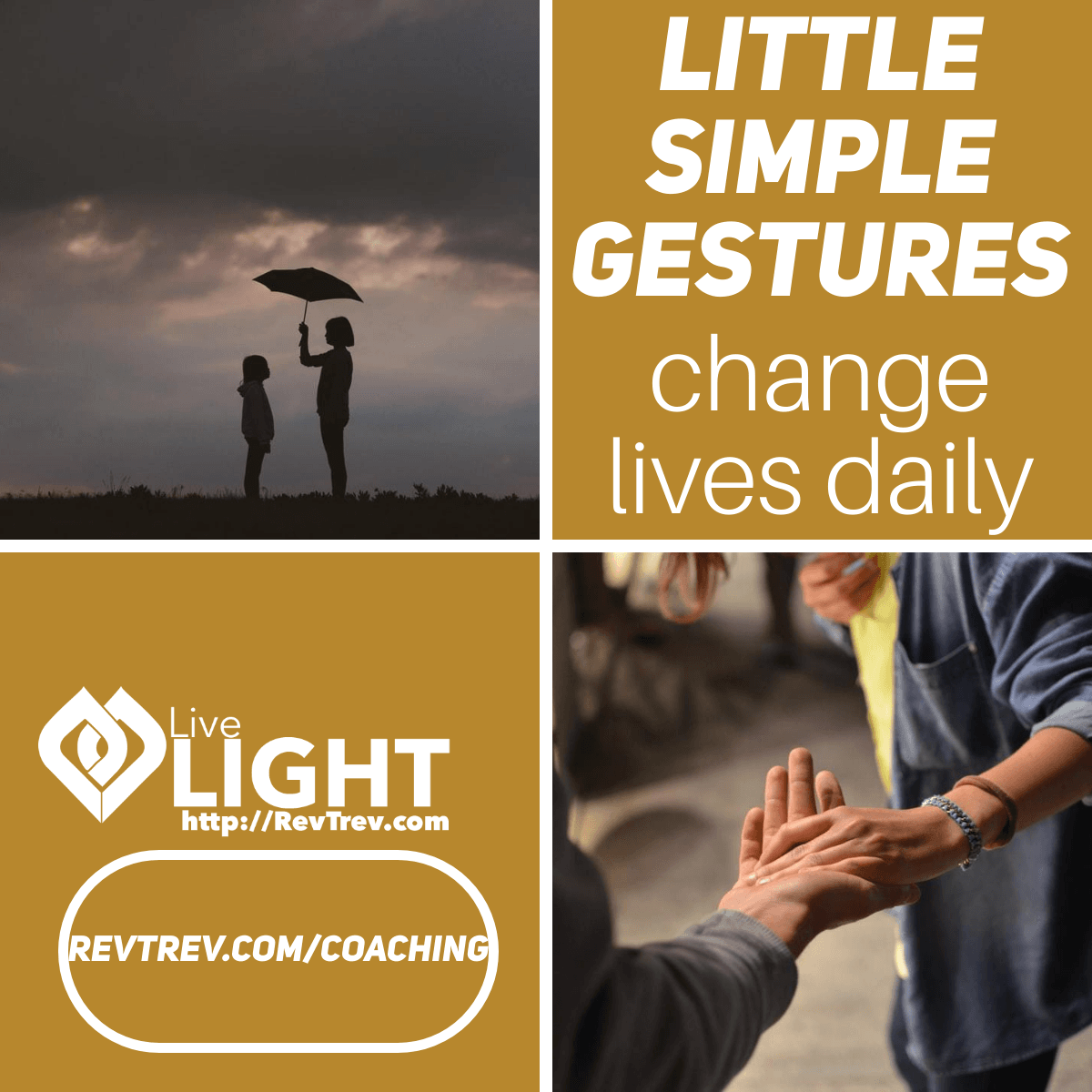 Little simple gestures change lives daily via @trevorlund