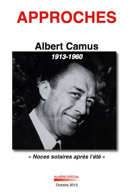 Couverture du numéro spécial sur Camus