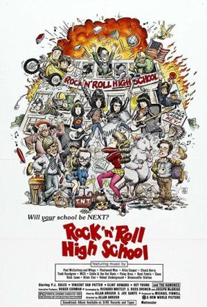 rock n roll highschool poster