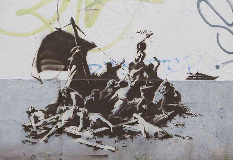 Banksy radeau Calais