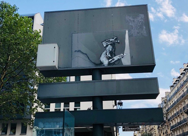 Rat Banksy Pompidou Paris