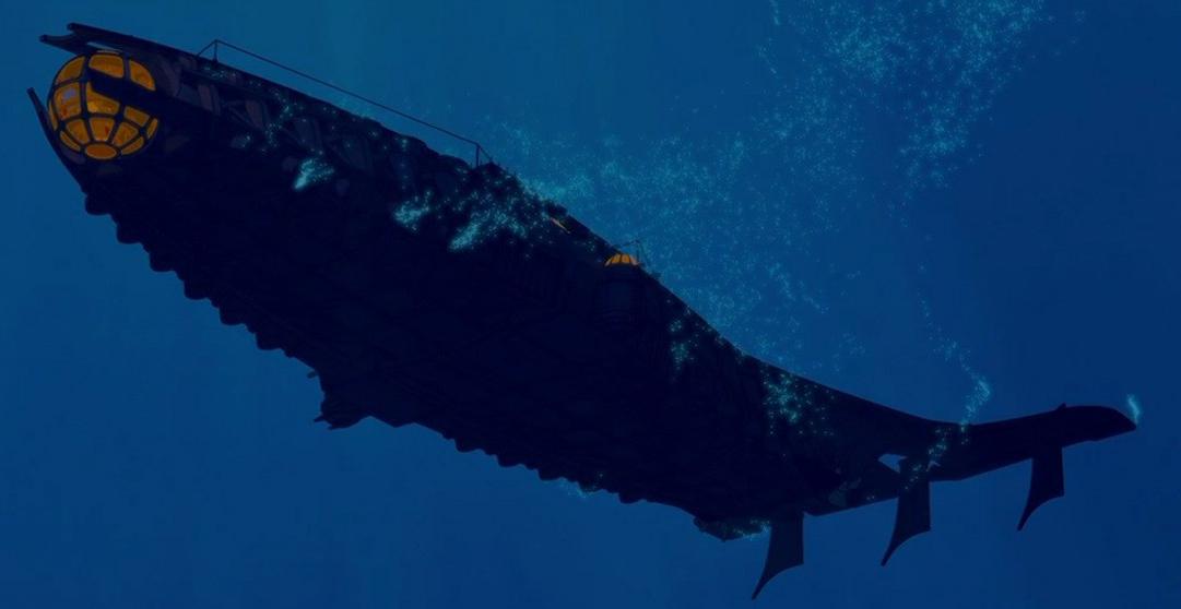 Le sous-marin Ulysse descend dans les profondeurs