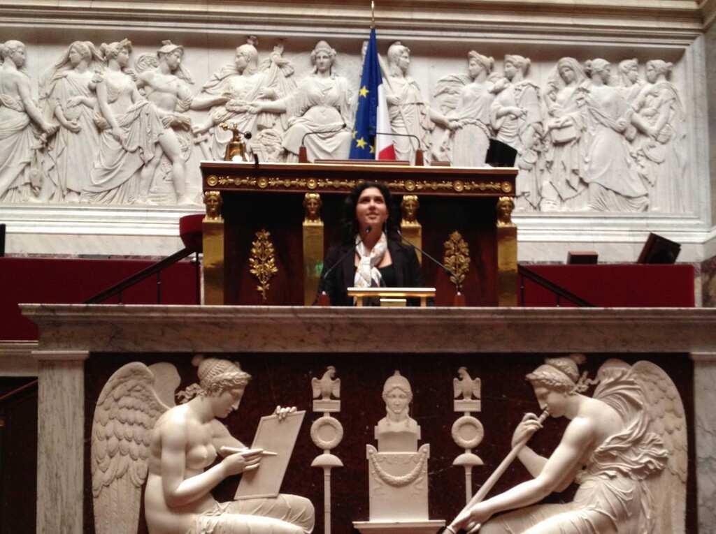 Amandine Weber à l'assemblée nationale