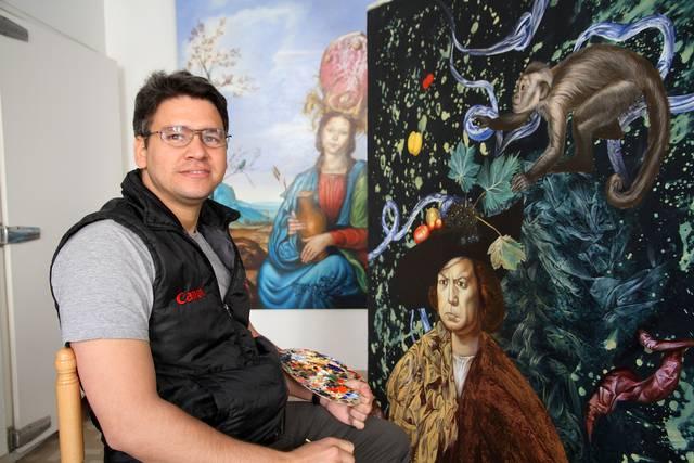 Carlos Sablón dans son atelier