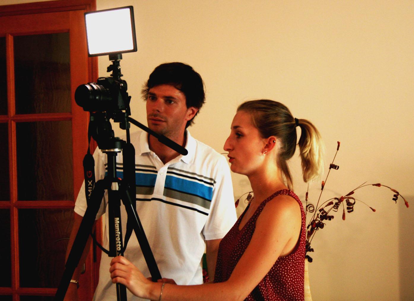 Aurélien Fossé et Elise Faenze, en tournage sur la 3e corde