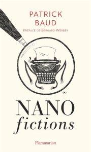 Couverture des Nan fictions, présentant une machine à écrire dessinée sous forme d'insecte et entourée d'un rond tracé par un crayon