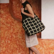 Shopping bag from the Mayan Plaid Milano Collection
