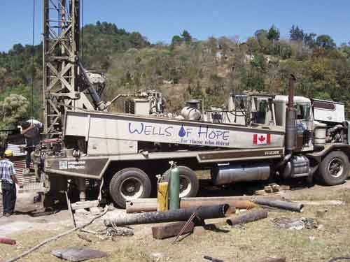 Wells of Hope has drilled several water wells in the mountains near Jalapa