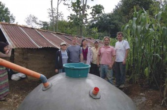 Rainwater catchment tank construction program