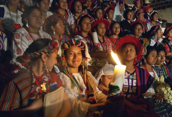 Each girl's presentation included saying prayers, which is usually accompanied with offerings of incense, flowers and other ceremonial objects.