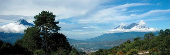 View of Antigua from one of its new aldeas, El Hato   (guido lucci)