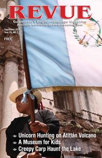 Flag bearer by Leonel Mijangos - EnAntigua.com