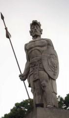 Tecún Umán Monument (photo by Johannes Blijdenstein)