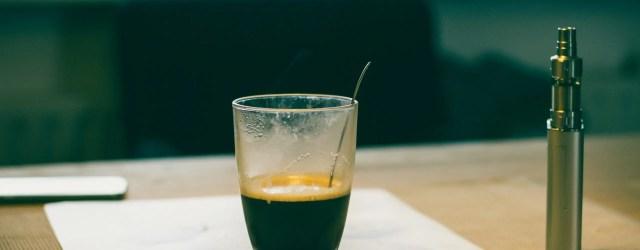 café et vapotage