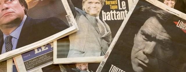 les unes des journaux à la mort de bernard Tapie