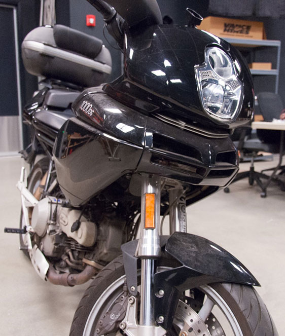 2005 harley davidson softail wiring diagram 1973 dodge dart sport how to tips for installing auxiliary lights on your motorcycle the victim in its pre operative state photo by ryan targoff