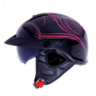 LS2 Rebellion Motorcycle Half Helmet