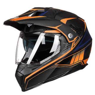 ILM Off Road Motorcycle Dual Sport Orange Helmet