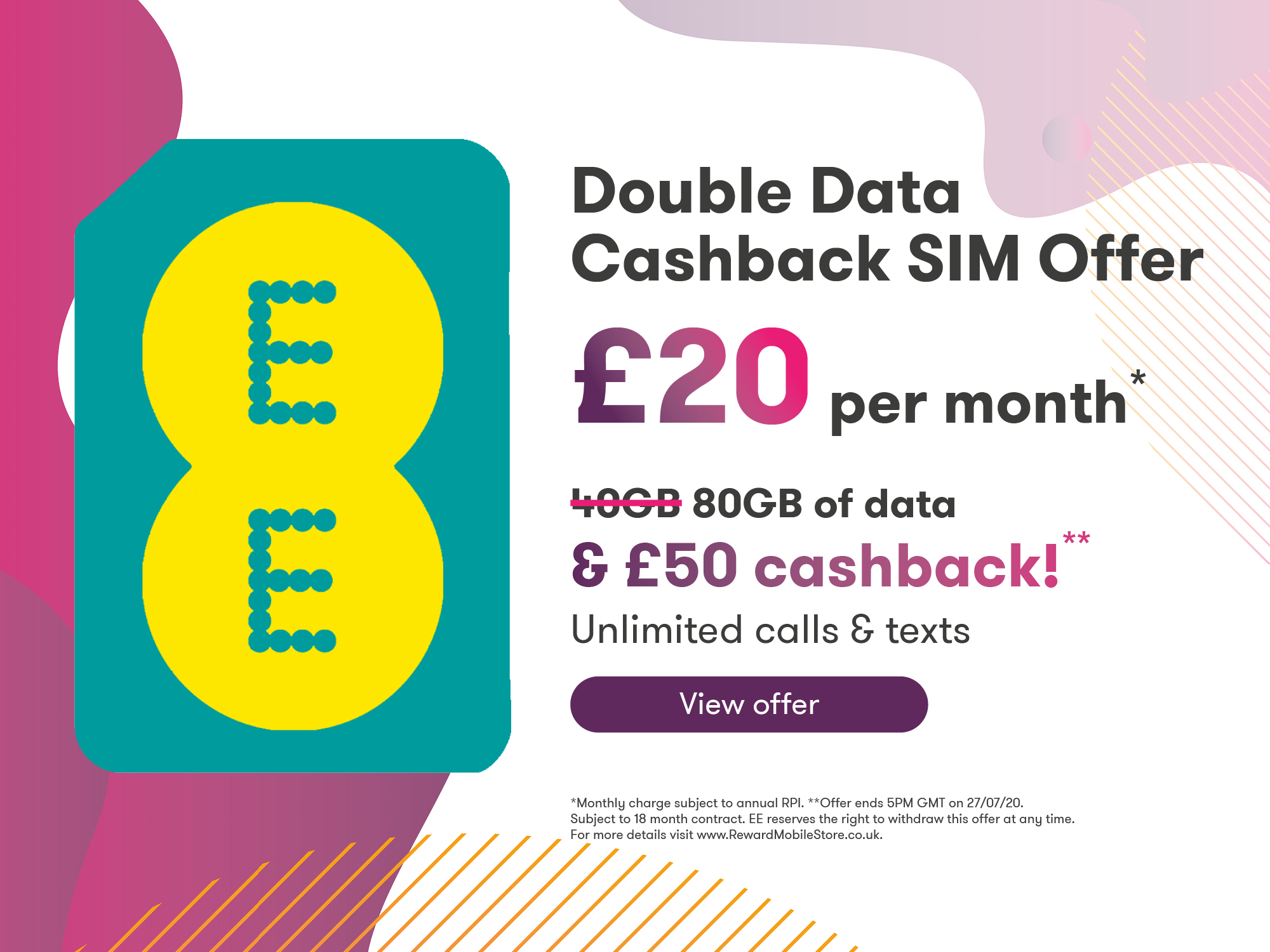 EE Double data SIM Offer 80