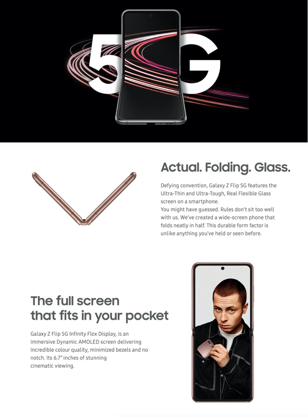 Samsung Galaxy Z Flip 5G Product Features Page 2