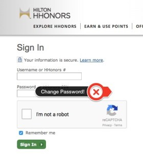 Points for Password HHonors