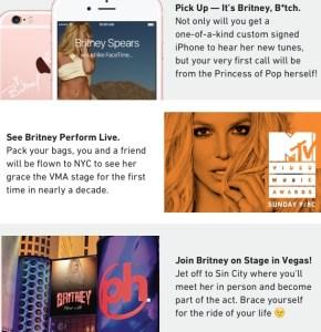 BritneySpearsGloryWinPrizesPostmates