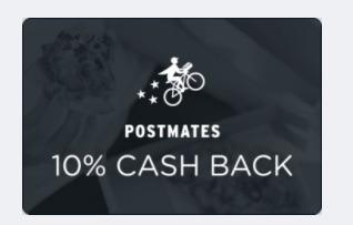 Ibotta is offering 10% cash back on Postmates Deliveries