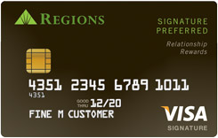 Regions Signature Preferred Visa
