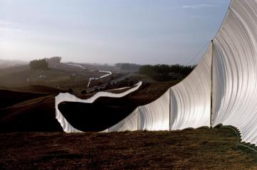Running Fence- Christo + Jeanne Claude