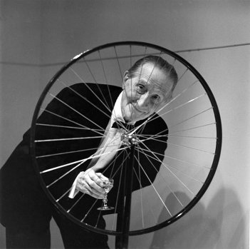 Duchamp: Bicycle Wheel. In this image the artist has utilised the object