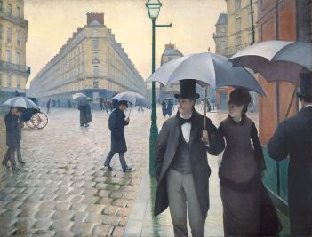 Paris Street: Rainy Day (Gustave Caillebotte): In this image the artist has represented the object.